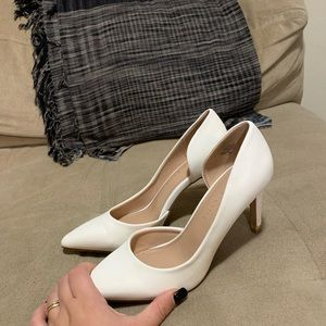 Kelly and Katie White Heels (perfect for prom)